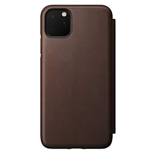 Nomad Tri-Folio per iPhone 11 Pro Max, in pelle marrone rustica