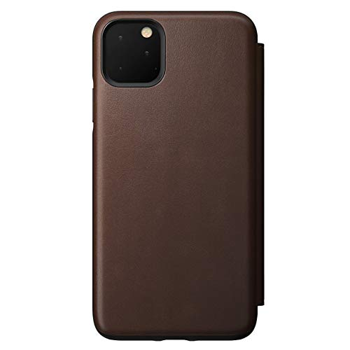 Nomad Rugged Folio for iPhone 11 Pro Max | Rustic Brown Horween Leather