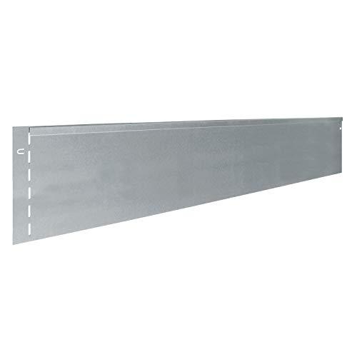 bellissa Rasenkante aus Metall - 7011 - Stahlblech feuerverzinkt, silberfarbig - 118 x 19,5 cm, Nutzlänge 11,5 m - Mit patentierter Verbindungstechnik