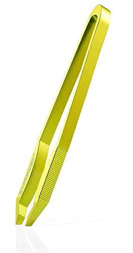 Rubis Pinzette Sweezer Shimmery Lemon - kosmetische Haarpinzette zur Haarentfernung - mit schräger Spitze