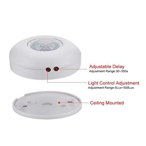 Interruptor de Sensor de Movimiento, Interruptor de Sensor infrarrojo Humano de 360 ° Duradero de Alta sensibilidad Inteligente para Pasillo, baños, Garaje