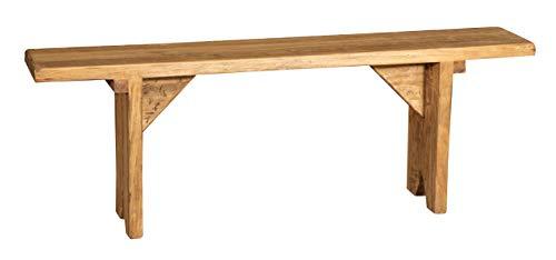 Biscottini Banc en bois massif de tilleul Finition naturelle Fabriqué en Italie