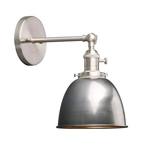 Phansthy innen Modernes Deckenhalbkreis mini mit Metall-Schirm Wandbeleuchtung Wandleuchten Vintage Industrie Loft-Wandlampen Antik Deko Design Wandbeleuchtung Küchenwandleuchte (Klarlack)