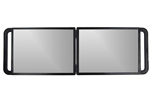 Large Folding Mirror with Double Handle - Rectangular Folded Handheld Mirror with Handles - Haircut...