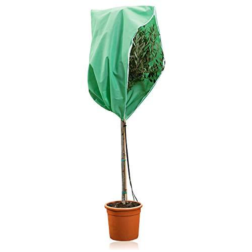 GardenGloss® Premium Pflanzenschutz Winter [Verschiedene Größen] – Hochwertiger Winterschutz für Kübelpflanzen – Frostschutz Pflanzen Winter – Wintervlies für Pflanzen – Palmen Winterschutz