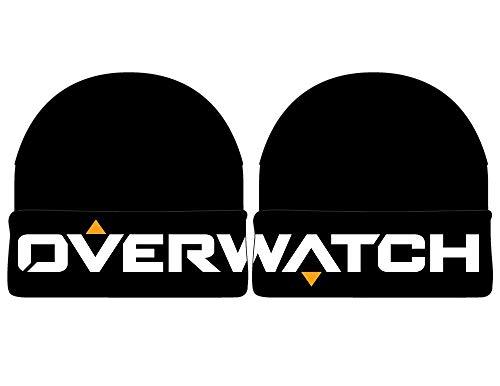 Bioworld Overwatch Beanie Cuff Black Knit Logo Berretti Cappelli
