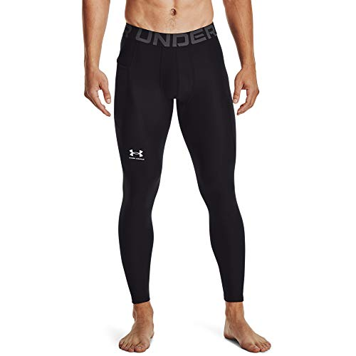 Under Armour Leggings Heatgear Armour para Hombre, Hombre, Leggings, 1361586-001, Multicolor Black White 001, Medium