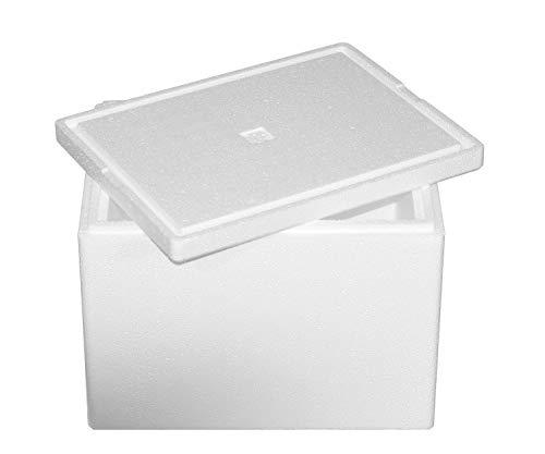 Thermobox, Styroporbox für Essen, Getränke & temperaturempfindliche Ware , Isolierbox aus Styropor mit Deckel , Maße: 40 x 30 x 30 cm , Wandstärke: 3 cm , Volumen: 19,5 L