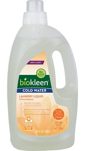 Biokleen Natural Cold Water Laundry Detergent - 128 Loads - Liquid, Concentrated, Eco-Friendly, Non-Toxic, Plant-Based, No Artificial Fragrance or Preservatives Item Name