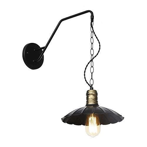 Industrial Metal wandlamp met metalen kap Retro Rustiek Loft Antieke muur Lamp Edison Vintage Decorative Wall verlichtingsarmaturen armatuur (Size : 35cm)