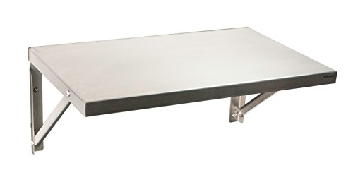 System X SVS 133 Stainless Steel Short Shelf for Pegboard 26 Inches Long by 17 Inches Wide