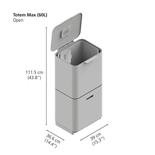 JosephJoseph(ジョセフジョセフ)分別ごみ箱トーテムマックス60Lステンレス30060