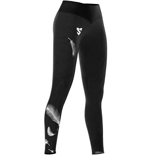SMMASH Herme Deportivos Leggins largos Mujer con cintura alta y Push UP, Perfecto para Yoga, Fitness, Crossfit, Correr, Material Transpirable y Antibacteriano, fabricada en la UE (S)