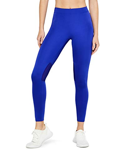 AURIQUE Damen Sportleggings, Blau (Cobalt Blue), 38 (Herstellergröße: Medium)