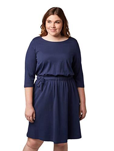 TOM TAILOR MY TRUE ME Damen 1012218 Kleid, Blau (True Dark Blue 10748), (Herstellergröße: 46)