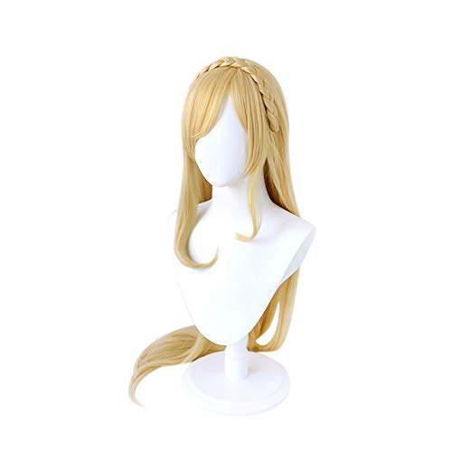 C-ZOFEK Sonia Nevermind Cosplay Wig with Golden Braid (Gold)