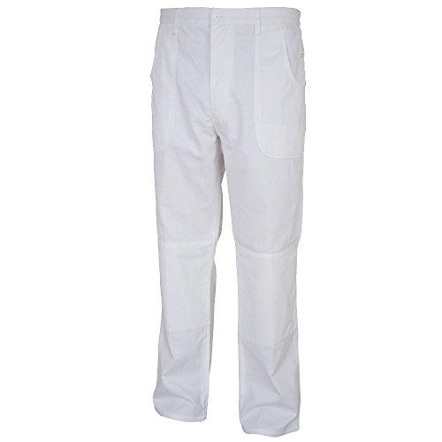 Carson Classic Workwear werkbroek van puur katoen 42 wit