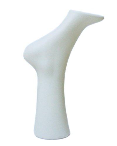 YUDU - Expositor con Forma de pié para Zapatos o Calcetines, Color Blanco