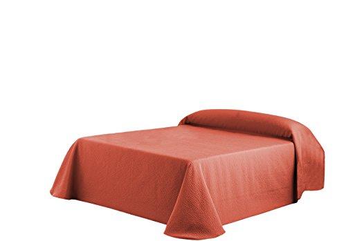 Eysa Sofaüberwurf, 270 cm, 75 Prozent Polyester, 25 Prozent Baumwolle, Kies Tagesdecke, Orange/09