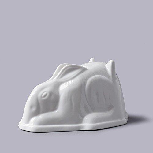 Céramique/Porcelaine Lapin Gelée Moule - Blanc