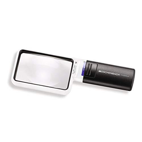 ESCHENBACH OPTIK Lupe Handlupe mit LED-Beleuchtung mobiluxLED Vergrößerung: 3x Linsengröße: 90x54mm