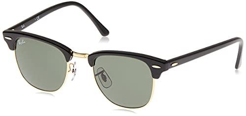 Ray-Ban Clubmaster RB3016 W0365 - Gafas de sol para hombre, Negro (Ebony/Arista W0365), 51