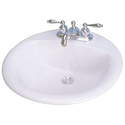 Cascadian L1390WH4 19-Inch Round Lavatory Sink, White