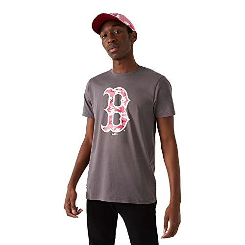 New Era - MLB Boston Red Sox Camo Camiseta, color gris gris L
