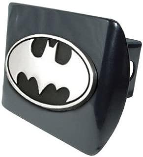 Batman Premium Metal Trailer Hitch Cover with Chrome Oval Bat Logo