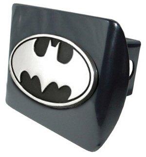 AMG Batman Black & Chrome Trailer Hitch Cover with Oval Batman Seal