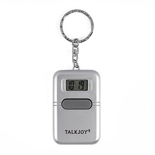 Sprechende Uhr Schlüsselanhänger Uhrzeit Wecker Sprachausgabe Blindenuhr Taschenuhr Digitale Seniorenuhr LCD Sehbehinderte
