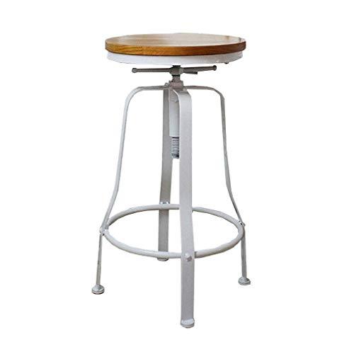 tabouret de bar DBL Chaise pivotante Meubles de Salon Tabourets Pub Polyvalent Hauteur comptoir Robuste Construction Tabouret Assemble Restaurants Chaises Bois de Fer (Color : #2)