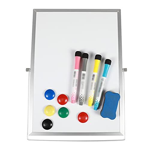 JKXWX Pizarron Placa de Dibujo de Doble Cara magnética Plegable for niños portátil Blanco Tablero de Mesa de Escritorio Pizarra Blanca