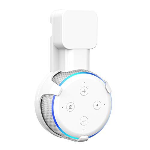 SPORTLINK Soporte Montaje en Pared para Dot (3.ª generación) Voice Assistants, Sin Cables o Tornillos Desordenados, Colgador Ahorro Espacio Enchufe en Cocina Baño y Dormitorio (Blanco)