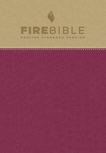 Firebible: English Standard Version, Tan/Berry Flexisoft Leather