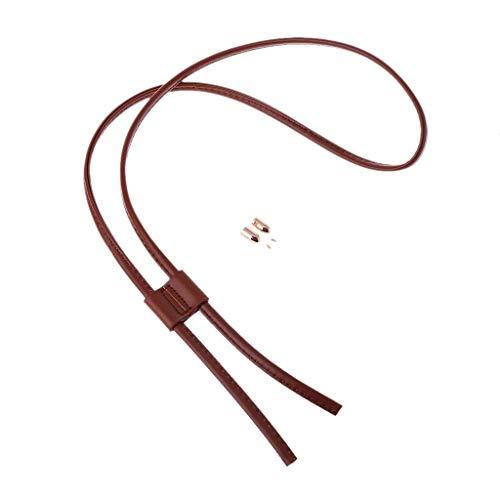 BLEUNUIT Bolso con cordón, para Mujeres y niñas, Bolso de Cuero sintético Desmontable con Correa, cinturón, Bolsos Tipo Cubo, con cordón, Mochila, Accesorios de Bolsillo con viga-CF2