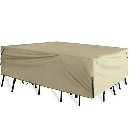 Leader Accessories 600D PVC Tough Canvas 100% Waterproof Rectangular/Oval Patio Table & Chair Set...