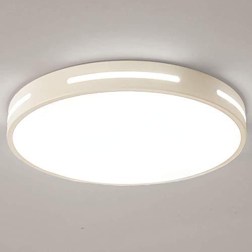 Kimjo Plafon LED de Techo 30W Blanco Frío, LED Lámpara de Techo 6000K 2500LM 230V, LED Plafón Moderna Plafón LED Techo...
