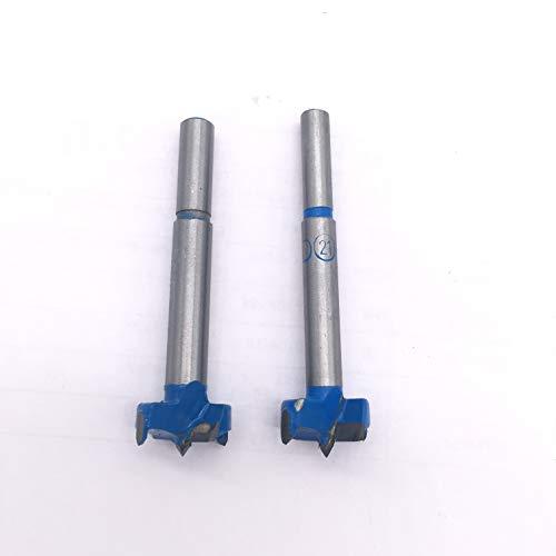 iSSCX - Juego de 2 brocas de carburo de 21 mm para taladros de madera de aleación de acero para taladros de madera y sierra
