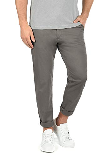 !Solid Machico Herren Chino Hose Stoffhose Stretch Regular Fit, Größe:W32/32, Farbe:Mid Grey (2842)