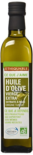 Ethiquable Huile d'Olive Vierge Extra Tunisie Bio et Equitable 50 cl Ecocert Equitable