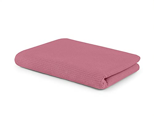 SETEX Waffelpiqué 1440 130180 091 482 (999) - Coperta estiva, 130 x 180 cm, 100% cotone, colore: rosa