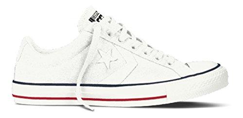 Converse Unisex-Erwachsene Star Player OX White/Navy Low-Top, Weiß (Weiß), 41.5 EU