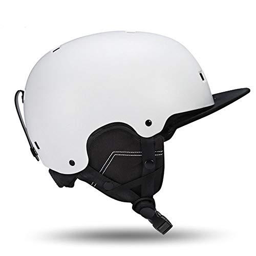 CARACHOME Skihelm, Ski & Snowboard Helm, Ski Snowboard Helm, für Männer, Frauen und Jugend, M, Schwarz (56-60cm),Weiß,XL