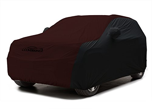 Coverking Custom Fit Car Cover for Select Jeep Grand Cherokee Models - Stormproof (Wine with Black Sides)