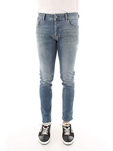 Diesel Herren Sleenker L.32 Trousers Skinny Jeans, Blau (01 Blue Denim 01), W33/L32 (Herstellergröße:33)