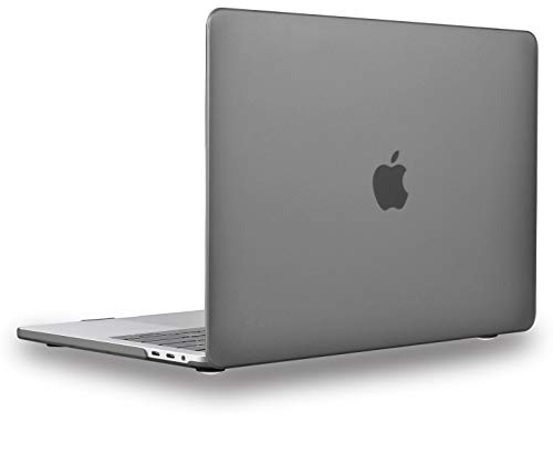 UESWILL Matte Hard Case Compatible with 2016-2019 MacBook Pro 13 inch, 2/4 Thunderbolt 3 Ports (USB-C), with/Without Touch Bar, Model A2159 A1989 A1706 A1708, Gray