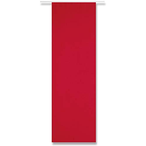 Flächenvorhang Alessia Blickdicht mit und ohne Technik, modern und stilvoll kombinierbar in vielen erhältlich (rot - Salsa/ohne Technik)