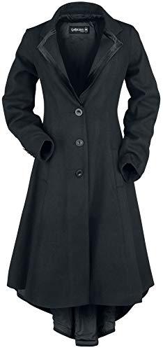 Gothicana by EMP Malphas Frauen Mantel schwarz S 80% Polyester, 17% Polyacryl, 3% Wolle Basics, Gothic