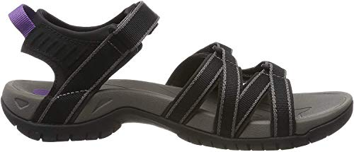 Teva W Tirra, Damen Sport- & Outdoor Sandalen, Schwarz (black/grey 912), 38 EU (5 UK)